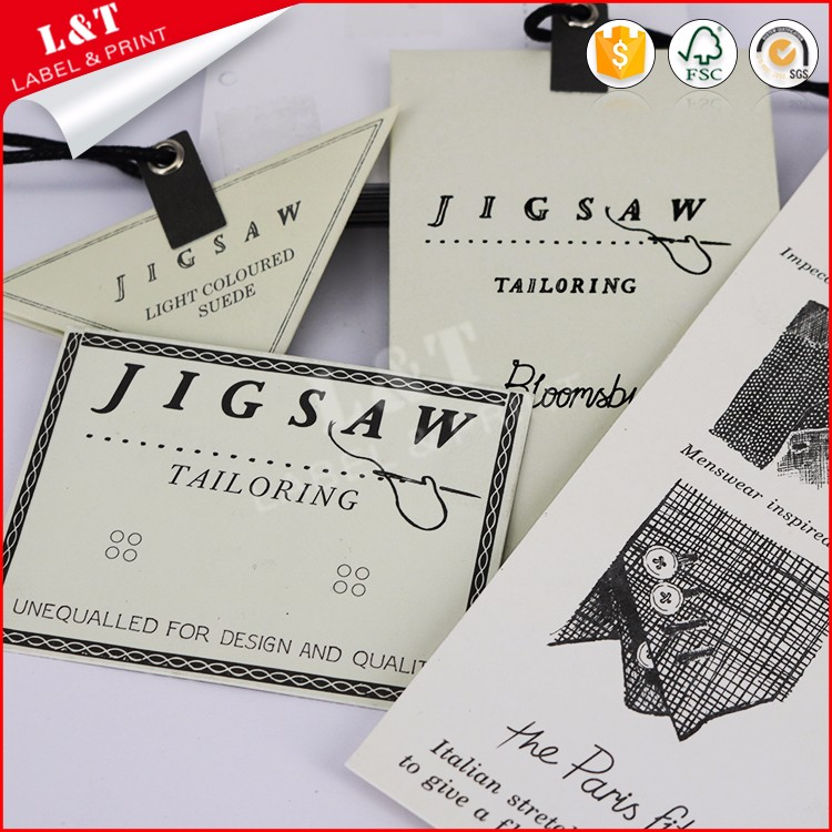 Unique Design Triangle Shape Hang Tags