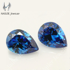 Pear Cut Synthetic Blue Zircon Stone