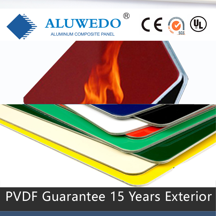 Safety A2 B1 FIREPROOF FIRE RETARDANT PE PVDF ACP ACM ALUMINUM COMPOSITE PANEL
