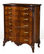 Victorian New Classical Style Commode of 6 Drawers, Antique English Style Fine Furniture for Living Room BF11-12302e