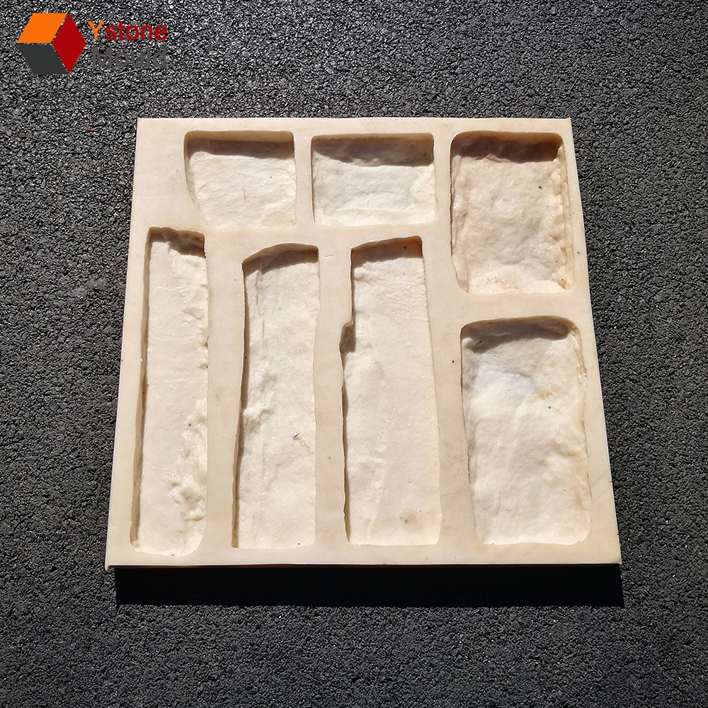 Stone veneer rubber mold for concrete or gypsum Polyurethane stone mold