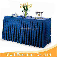 china plastic table cover round decorative table cloth dark blue poly jacquard tablecloth luxury banquet damask table covers