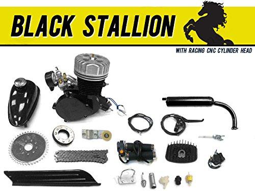 Black Stallion 66cc/80cc Bicycle Engine Kit Gas Motorized Bicycle