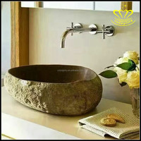 Bathroom stone white marble standing vanity wash basin lavabo sinks