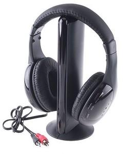 Hot Sale Fashion Headset 5In1 Hi-Fi Wireless Headphones Portable Noise-Canceling Earphone Pc Laptop Tv Fm Radio Mk970