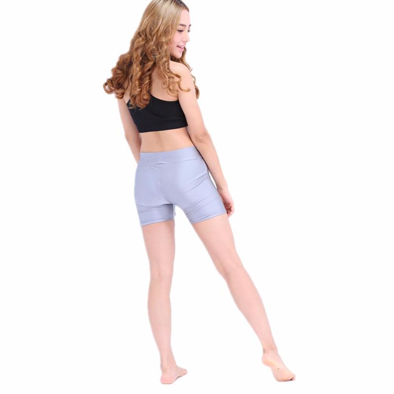 3cc5b5f3eea Speerise Plus Size Adult Spandex Workout Shorts Rave Booty Shorts Mid Waist  Women Dance Nylon Lycra Dance