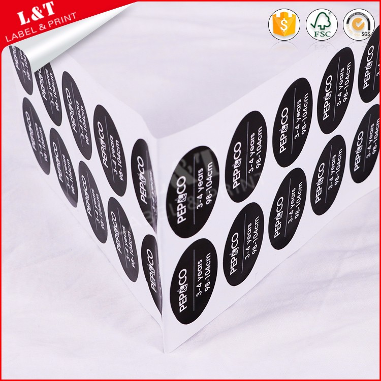 Style Product Round Color Sticker For Fashion Garment Men T Shirt