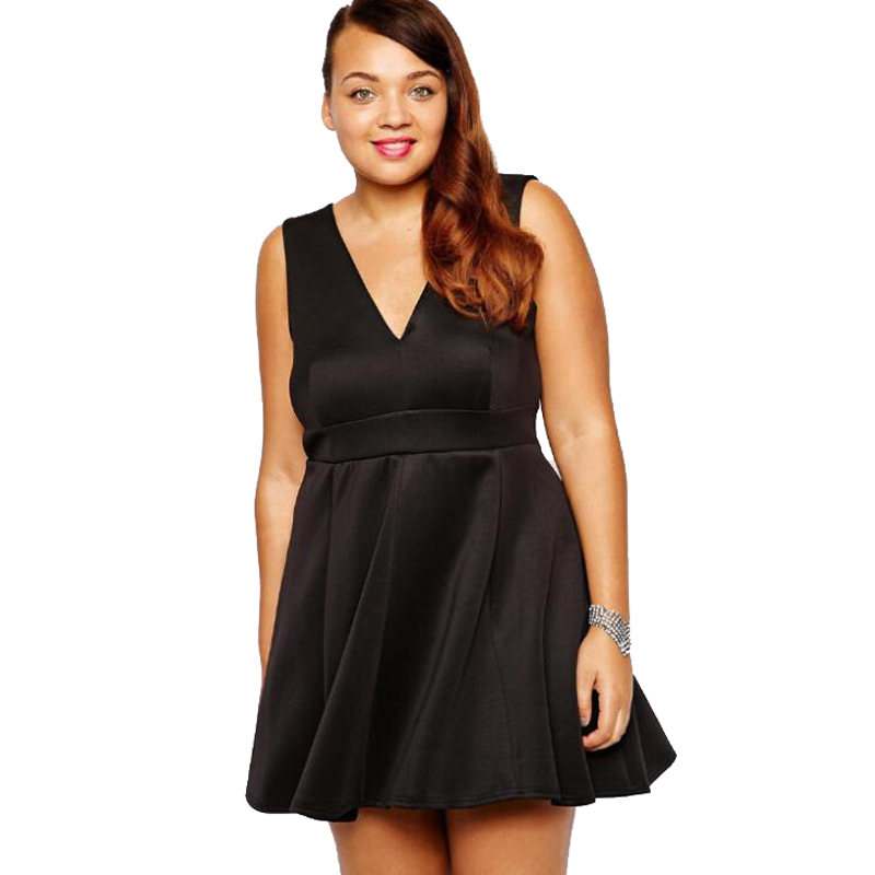 344cfa07073 Get Quotations · New 2015 Plus Size 3XL Summer Low-cut V-neck Party Dresses  4XL Sexy