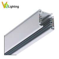 Led track light accessories square 3 Phase 4wires aluminum linear rail