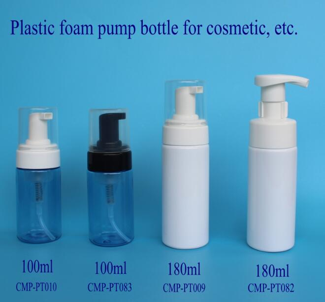 plastic blue foam pump bottle, 100ml foam pump bottle for shaving