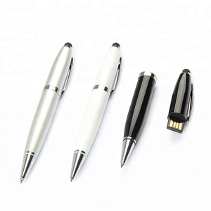 Pen Shape Usb Stick Metal Ball Pen 8Gb 16Gb Pen Drive Memory