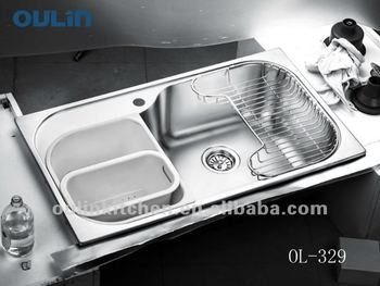 Oulin Kitchen Sinks Stainless Steel Water Sink Large Kitchen Basin ...