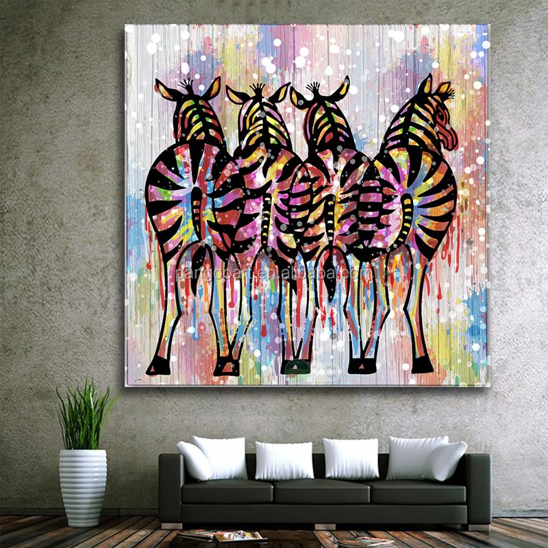 enkele panel abstract zebra canvas gedrukt schilderen voor slaapkamer decor