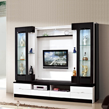 Hot Sale Lcd Wood Tv Wall Units Designs