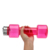Color Custom Made BPA Free Plastic Sport Water Bottle 750ml Mini Dumbbell Shaker Bottle With Stainless Steel Cover