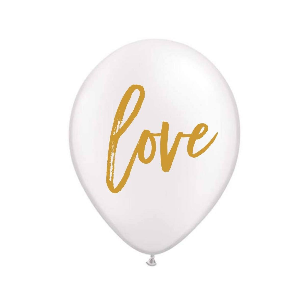 White Love Balloons, Love Balloons, Love, Engagement Party Decoration, Bridal Shower Decoration, Valentine's Day Balloons, (Set of 3)