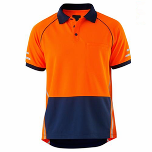 micromesh high quality custom wholesale orange 100% polyester hi vis T-shirt