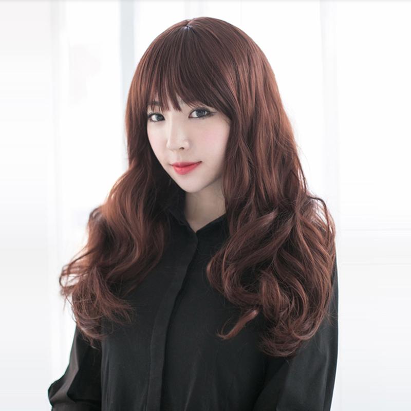 Astounding Buy Yet Oblique Bangs Wig Long Curly Black Hair Wig Scroll Fluffy Short Hairstyles Gunalazisus