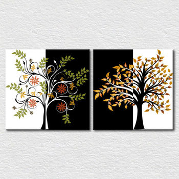 Simple Canvas Pictures Abstract Tree Painting For Living Room