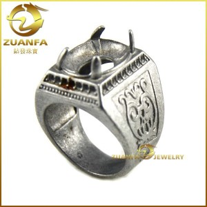 mens ring fashion sterling silver ring settings without stones