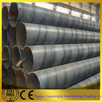 large diameter ms SSAW / spiral welded steel pipe oil and gas pipeline