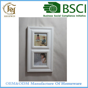 Free sexy Wood Picture Photo Frame Sample in white color