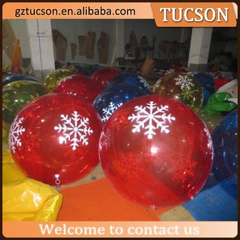 hot sale giant inflatable christmas balls transparent for christmas  decoration - Hot Sale Giant Inflatable Christmas Balls Transparent For Christmas