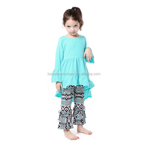 sweet baby girl clothes tops with printed pants boutique baby clothing baby sets of clothing