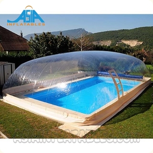 Transparent Inflatable Pool Dome / Waterproof Swimming Pool Cover