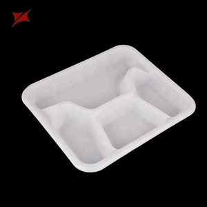 New Style Eco-Friendly Custom Fast Food Container Blister 4 Compartment Tray