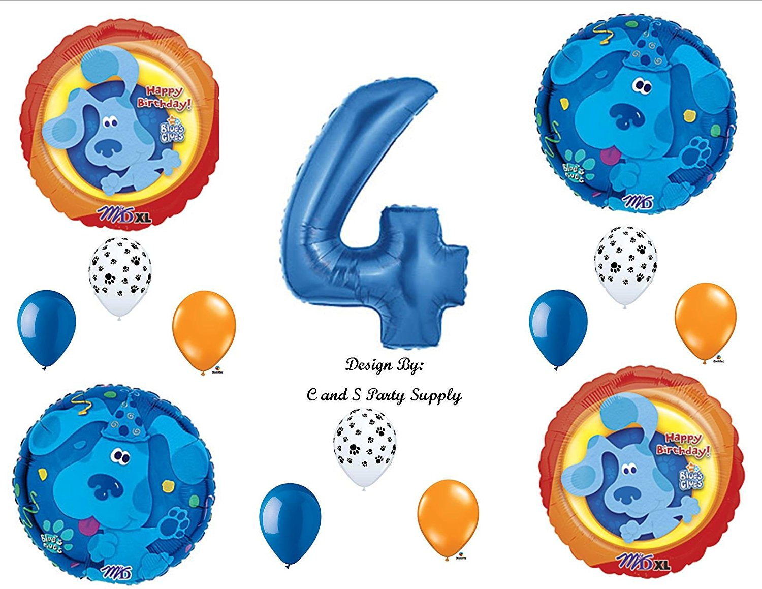 blues clues mr salt and mrs pepper. get quotations · blues clues 4th birthday party balloons decorations supplies mr salt and mrs pepper