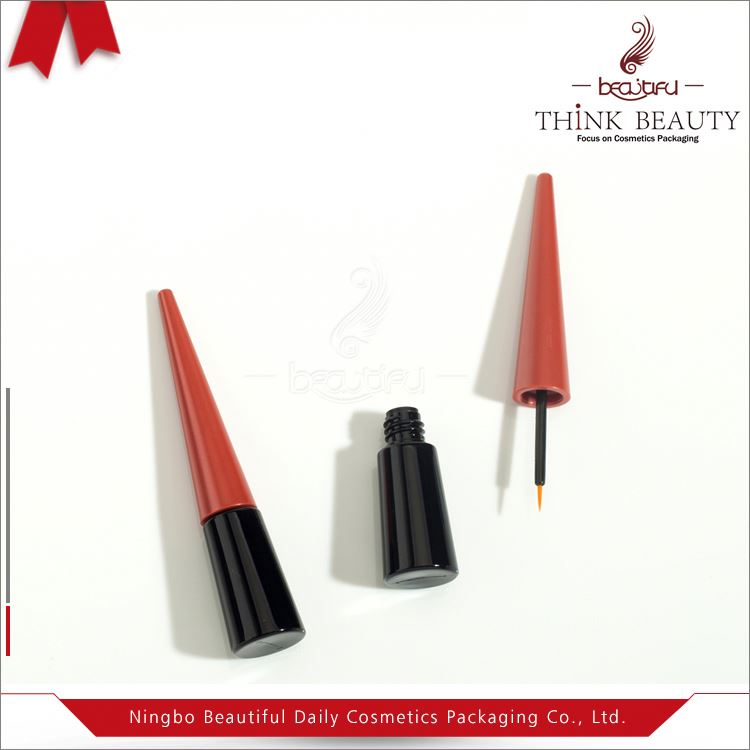 Hot sale 19.7mm H103.9mm empty Chic black and red styling7.5ml eyeliner container/bottle/tube