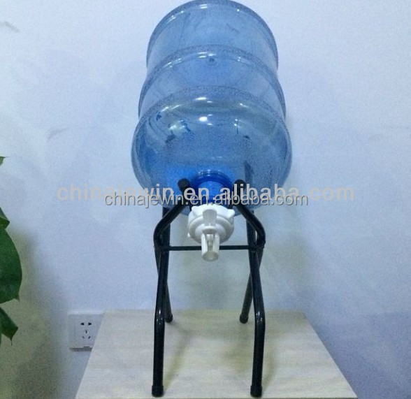 Standing 5 gallon bottle rack with faucet, View standing bottle rack ...