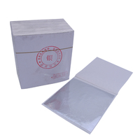 High quality Imitation Silver Leaf Taiwan Imitation Gold foil 8 X 8.5 cm 500 sheets per pack