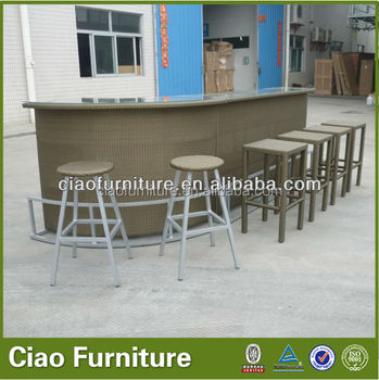 Delicieux High Quality Outdoor Commercial Bar Furniture / Corner Bar Table Set
