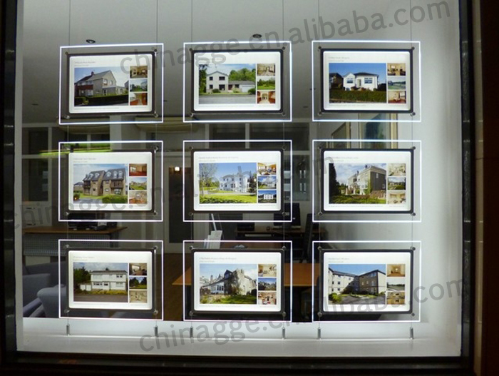 Window Display Led Acrylic Lighting Poster Frame Buy Led