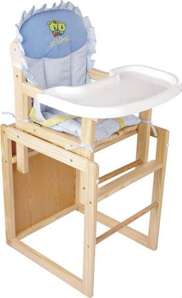 Separable de dise o de moda de los ni os trona de madera for Silla de bebe de madera