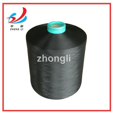 polyester yarn black DTY dope dyed black 50D-600D HIM NIM SD BRIGHT NO:1 Alibaba