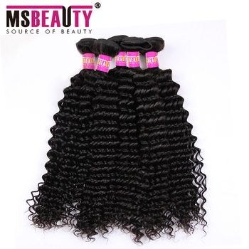 Biggest factory in China popular Msbeauty brand for deep curly angels hair weaves