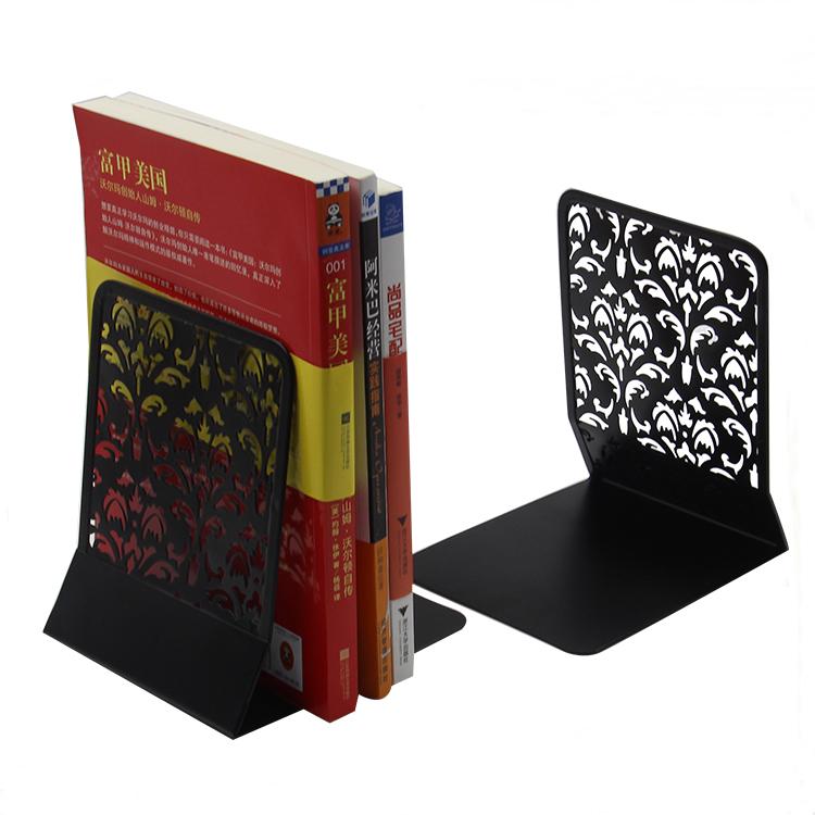 Easypag安いオフィステーブルトップ金属カウンターデスクオーガナイザー中空花ブックエンド