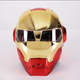 YLM Hot Sale Dismantling and washing Unique Dazzling Iron Man Motorcycle Full Face Electroplate Helmet