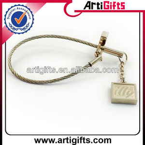 Cheap custom metal keychain parts with logo
