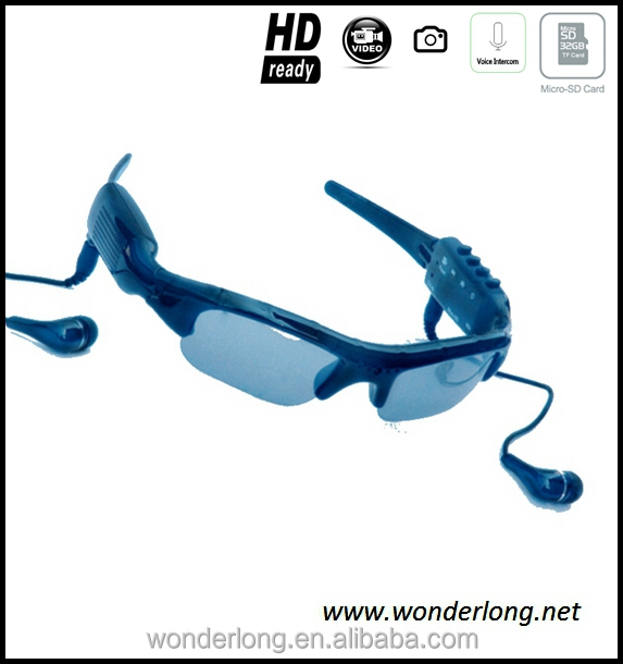 Hot Sale Eyewear Spy Camera Bluetooth MP3 Sunglasses with Video Camera
