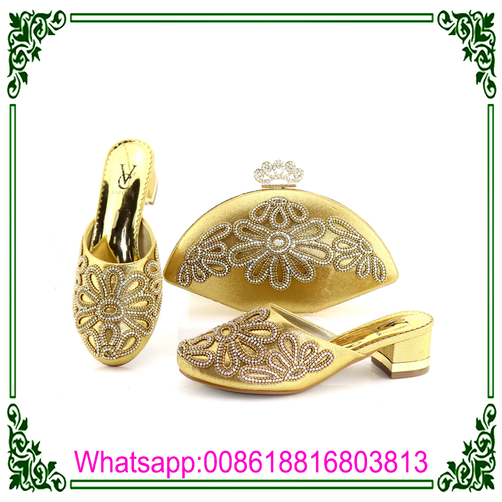 set quality High african women bag shoes 2018 and for Y5xOP1n