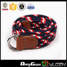 High Quality Colourful Elastic Woven Braided Wholesale Ladies Belt