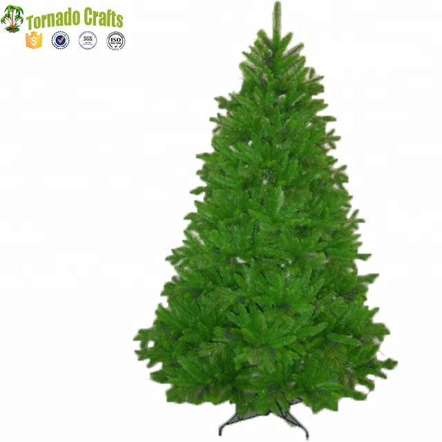 1.8m Light Green tipped <strong>PE</strong>+PVC mixed christmas tree bendable metal frame xmas tree