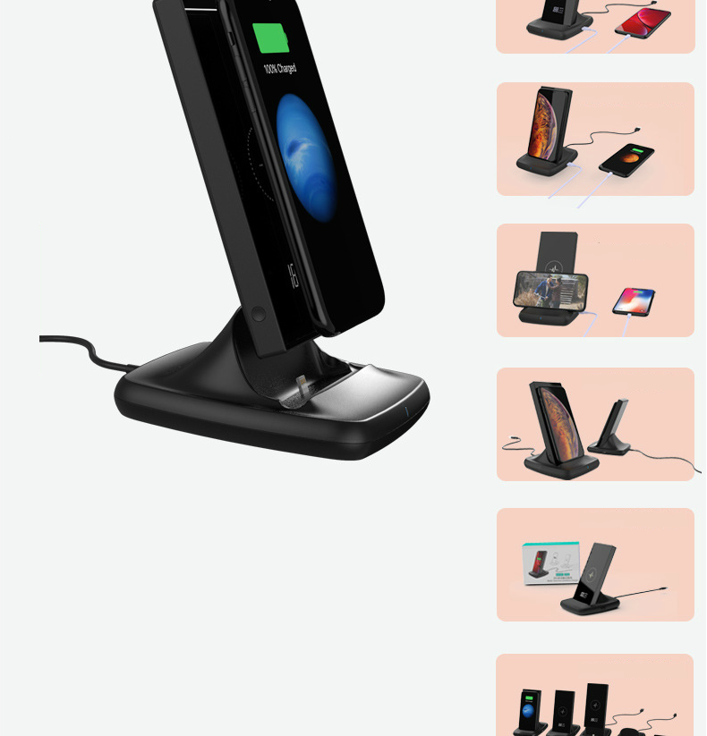 QI wireless di ricarica stazione del caricatore di batteria esterna powerbank 10000 mAh banca di potere per iPhone 8