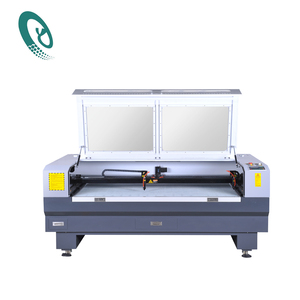 80W co2 ccd camera cloth laser engraving machine/label cutting laser engraver