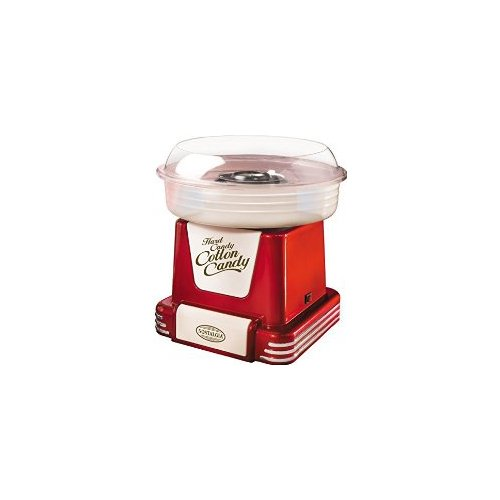 Nostalgia Electrics PCM805RASP Hard & Sugar-Free Candy Cotton Candy Maker, Red