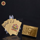 $100 Australia Dollar Bill Playing Cards 24k Gold Foil Plated Casino Sexy Poker Cards Custom Printed Paper Playing Card